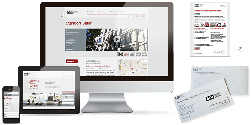 BCP Business Center Partners Network - Konzept, Design, Text, Projedadminitsration durch eSpark Marketing & Web-Agentur